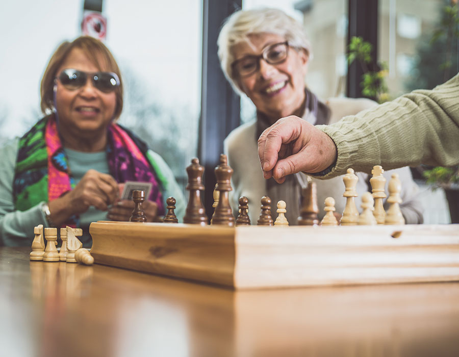 Chess with Friends - Town & Country - Independent & Assisted Living in Santa Ana, CA
