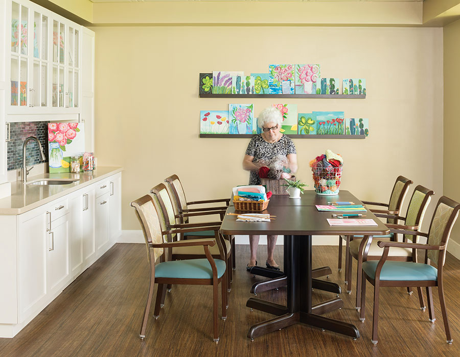 Get Creative in our Art Room - Town & Country - Independent & Assisted Living in Santa Ana, CA