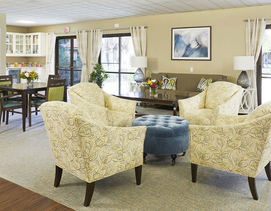 Inviting Living Room - Town & Country - Independent & Assisted Living in Santa Ana, CA