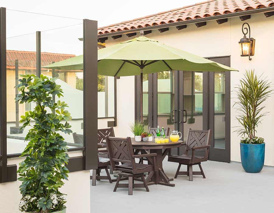 Enjoy our rooftop patio